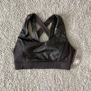 Splendid Studio faux leather sports bra